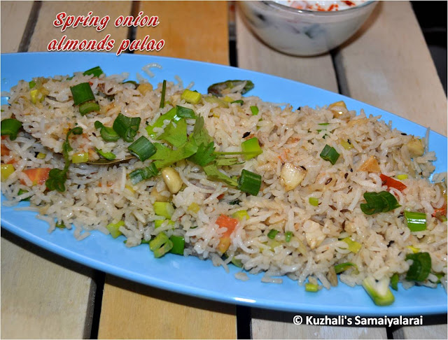 SPRING ONION ALMONDS PULAO - RICE VARIETIES