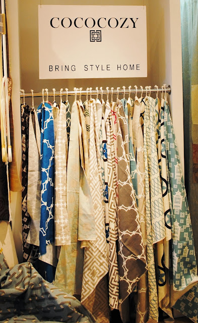COCOCOZY Textiles at the Charles Spada showroom in Boston, MA