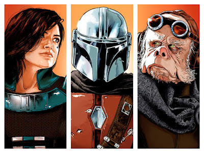 "Star Wars ""The Mandalorian"" Triptych Screen Print by Joshua Budich"