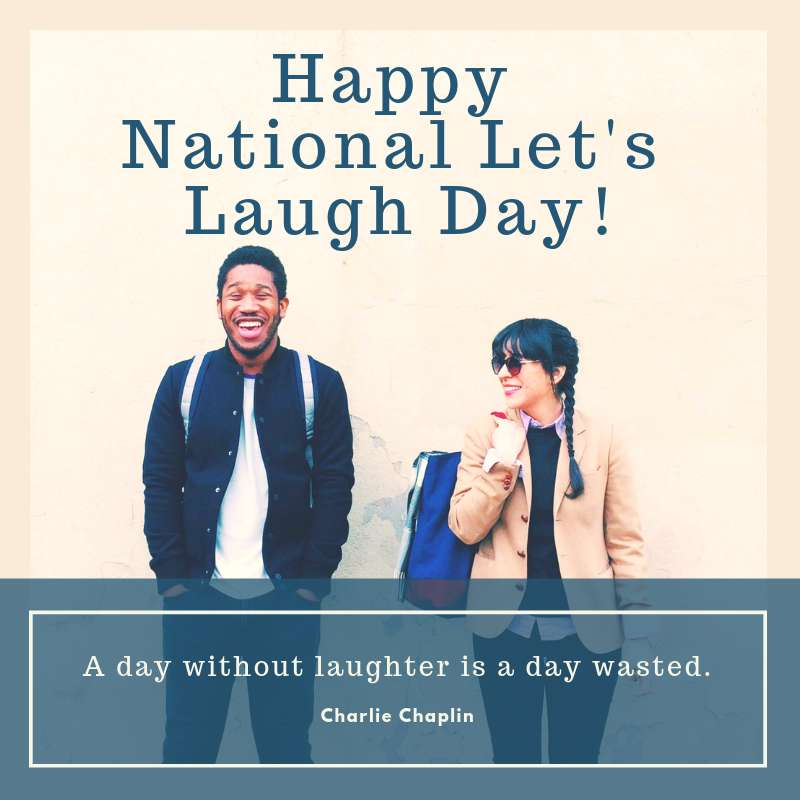 National Let's Laugh Day Wishes for Whatsapp