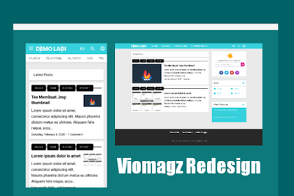 Download Template Viomagz Redesign Terbaru
