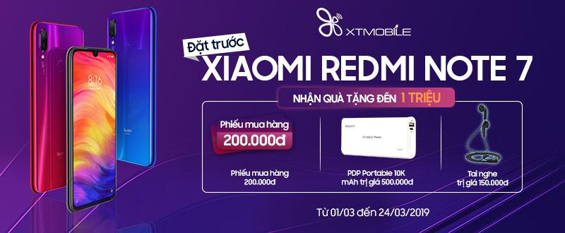 Redmi Note 7 CTY Giảm thẳng 200K