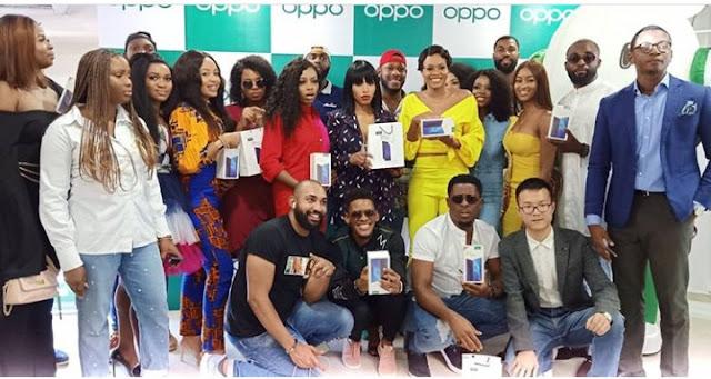 Big Brother Naija housemates receive Oppo phones