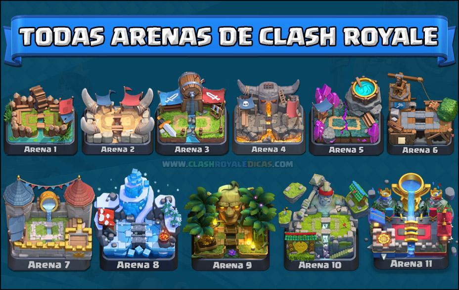 Cartas desbloqueadas arena Clash Royale