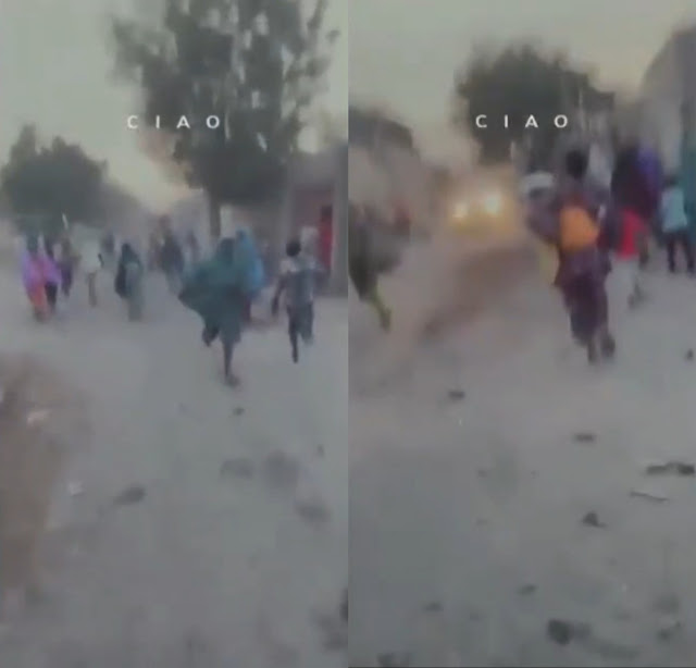 Maiduguri residents ran for their lives as Boko Haram invaded their community (Watch Video)