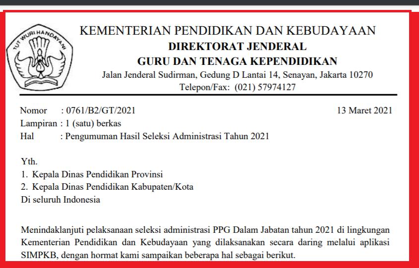 gambar pengumuman hasil seleksi administrasi ppg 2021.png