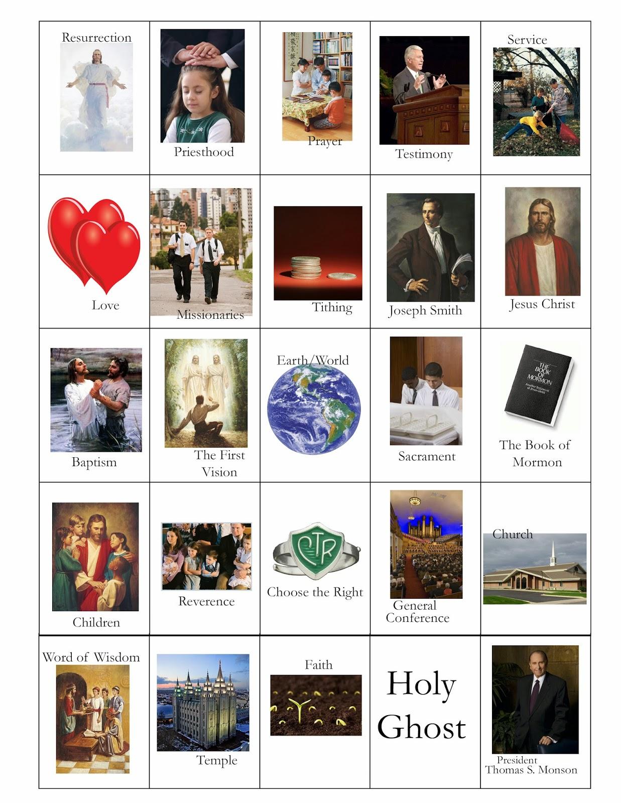 Doodlecraft: LDS General Conference Variety Bingo Cards!