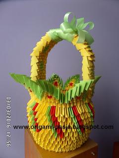 #papier #origamimodulowe #origami3d #koszyk #wielkanoc