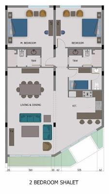 تصميم الوحدات سكنية اويا بيتش جده