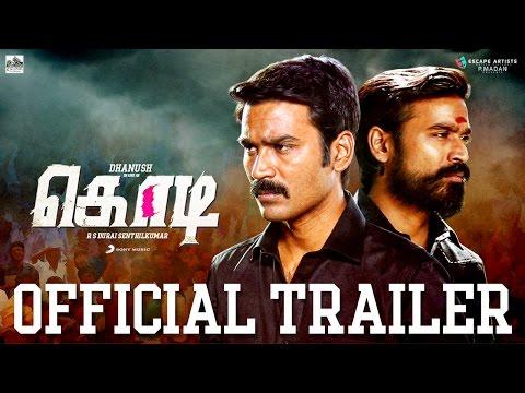 Kodi Tamil Movie Official Theatrical Trailer | Dhanush, Trisha | Santhosh Narayanan