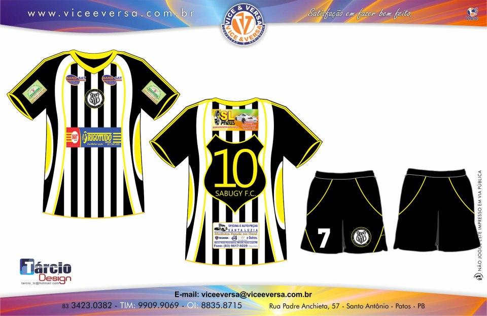 Novo uniforme do Sabugy F. Clube já está disponível para compra ... 721e8a11234d9