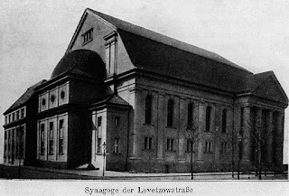 Berlin - Lewetzowstrasse Synagogue (built 1912, destroyed by the Nazis in 1938)