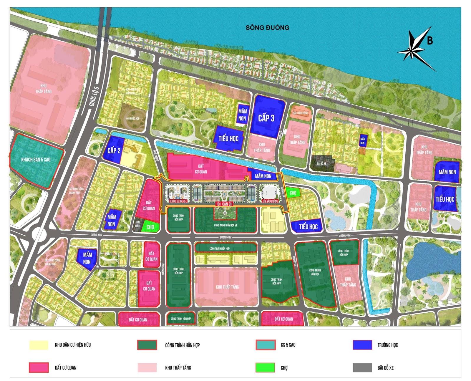 Bình Minh Garden nằm trên bản đồ khu đô thị N10!