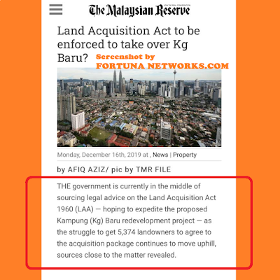 "<img src=""FortunaNetworks.Com.jpg"" alt=""Regime PH Guna 'The Land Acquisition Act 1960' Untuk Rampas Tanah Pusaka Melayu Kampung Bharu?"">"