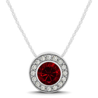 Halo-Ruby-Necklace-with-Round-Pendant