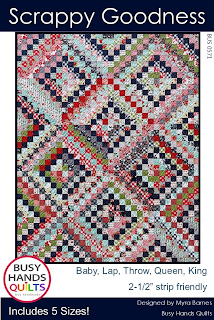 Scrappy Goodness Quilt Pattern by Myra Barnes of Busy Hands Quilts