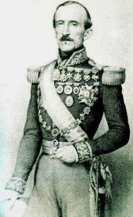 Foto antigua de Juan José Flores en grises