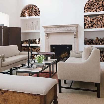 Living Room design by Darryl Carter, via his website, as seen on linenandlavender.net