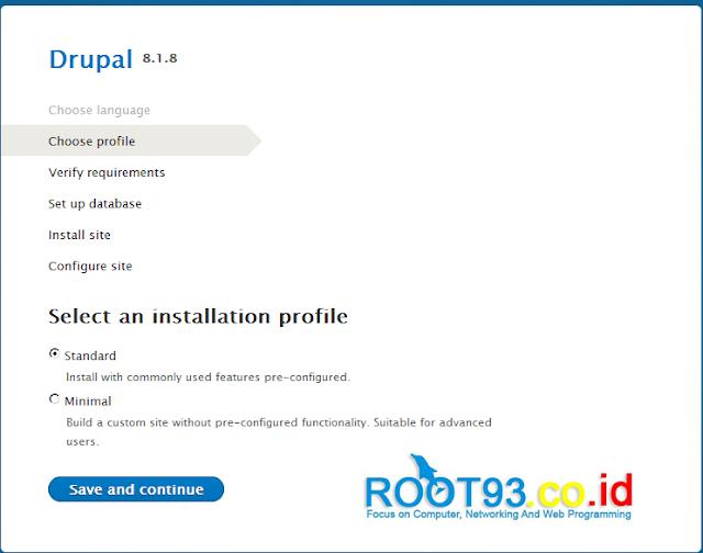 memilih profile instalasi