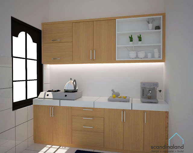 Desain 3D Kitchen Set minimalis untuk klien di Yogyakarta