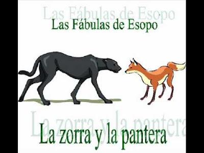 Fábula de la zorra y la pantera