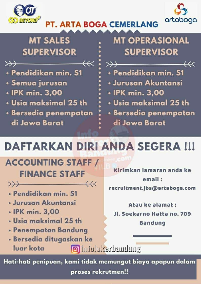 Lowongan Kerja PT. Arta Boga Cemerlang ( Orang Tua Grup) Februari 2021