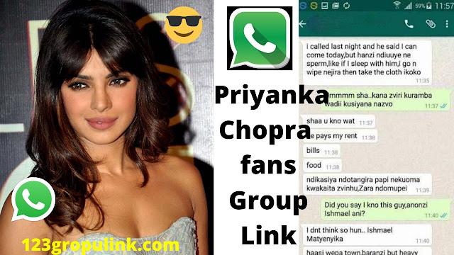 Join 60+  Priyanka Chopra Fans Whatsapp Group Link 2020