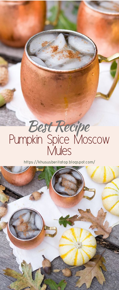 Pumpkin Spice Moscow Mules #healthydrink #easyrecipe #cocktail #smoothie