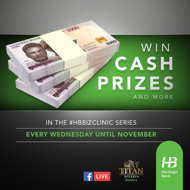Win Cash Prizes In The #HBBizClinic Series on Wednesdays.