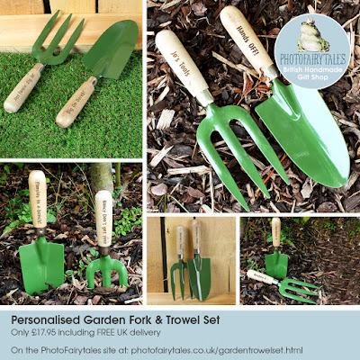Personalised Garden Fork and Trowel Set | gardening gift from PhotoFairytales