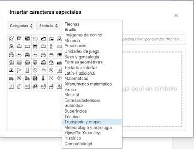 Insertar caracteres especiales en blogger