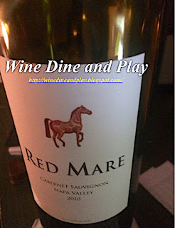 The Cabernet Sauvignon wine tasting of the Red Mare Vineyard from Oakville, California