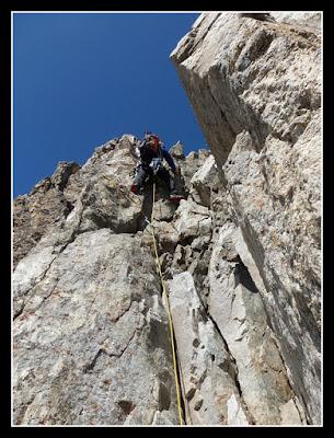 Escalando hacia la cima del Crabioules oriental