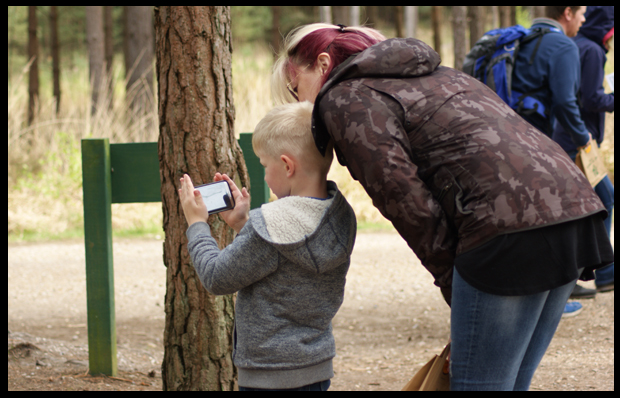 Capturing the mouse on our Gruffalo Spotter app