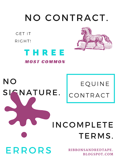 Three Common Equine Contract Errors