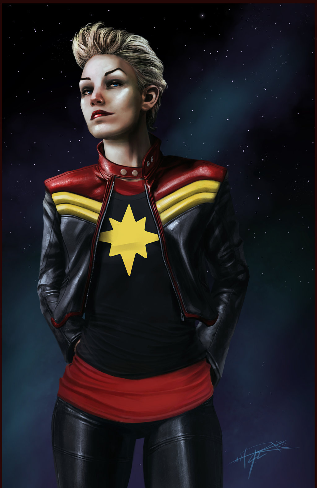Fashion And Action Marvelous Monday Captain Marvel Art