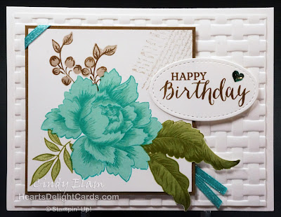 Heart's Delight Cards, Altenew Peony Bouquet, Rose Wonder, Burlap, Sale-A-Bration Second Release 2018, Stampin' Up!