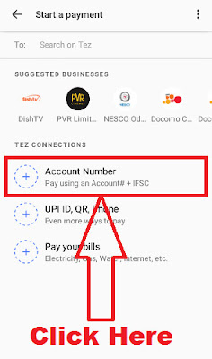 how to send money to any bank account from google tez app