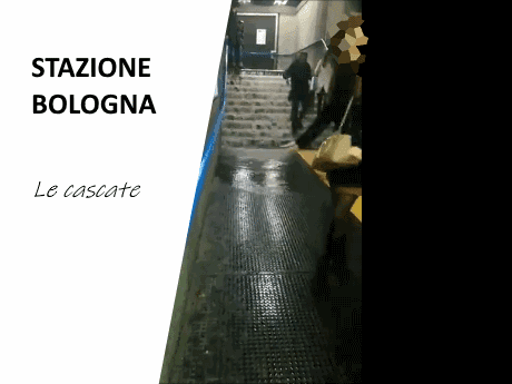 Le cascate della Stazione Bologna