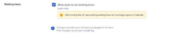 Working Hours is Enabled for Users in your Domain 1