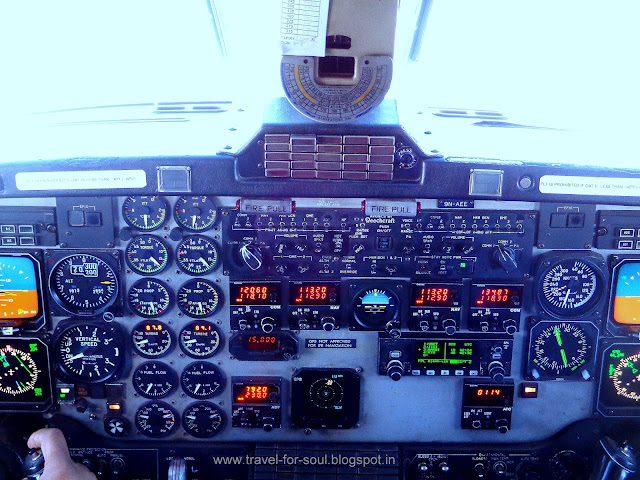 Visit to Cockpit - Mountain Flight
