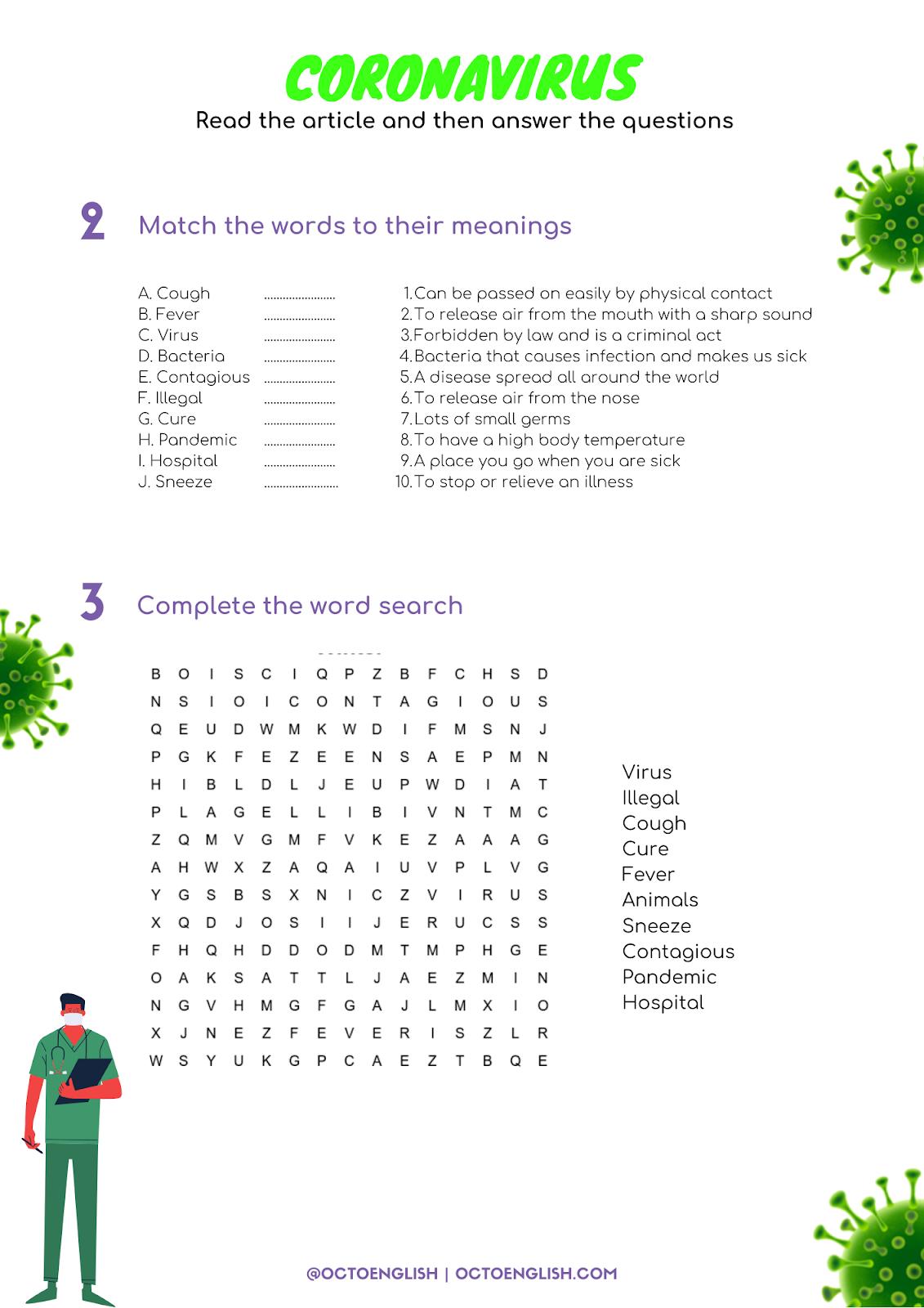 Coronavirus Reading Activity Part 2