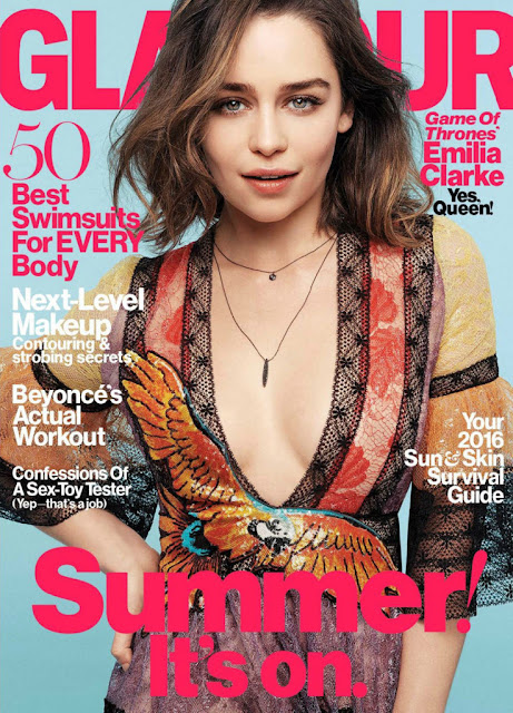 Actress, @ Emilia Clarke - Glamour US May 2016