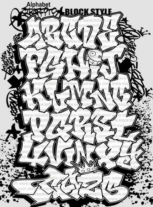 Graffitie: creator graffiti alphabet