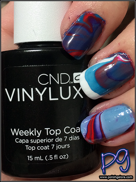 July 4th Nail Art With Cnd Vinylux Polish Galore