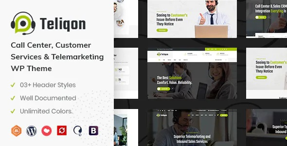 Best Call Center & Telemarketing WordPress Theme