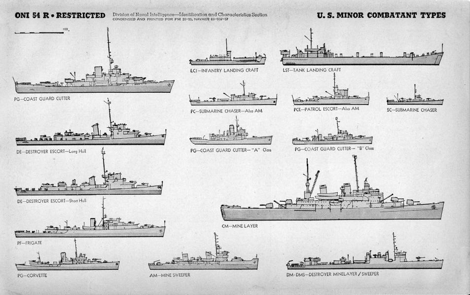 escort vessel 7 letters