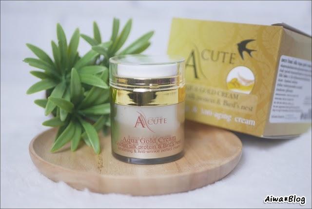 :: รีวิว A CUTE Aqua Gold Cream ครีมรังนกไหมทอง ยกกระชับ ปรับผิวใส ::