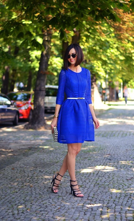 cobalt blue fashion