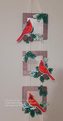 toile christmas hanging frames 1